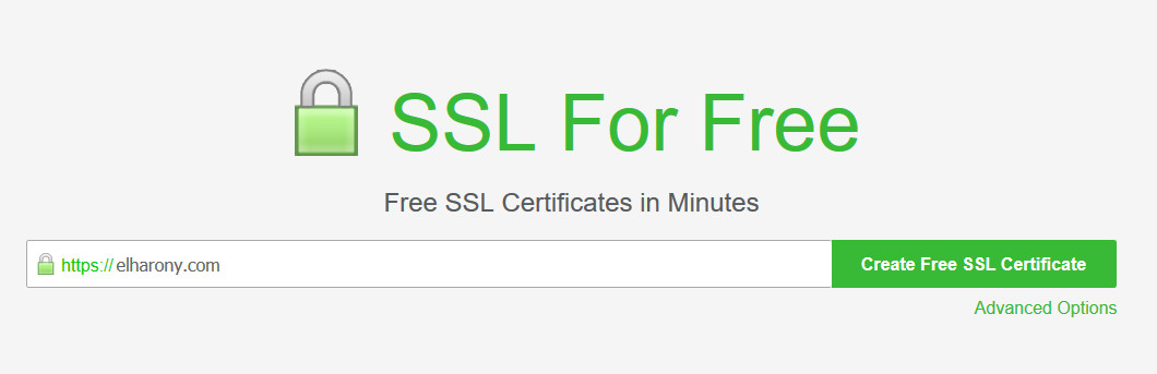 SSL For Free - Create Your SSL Certificate
