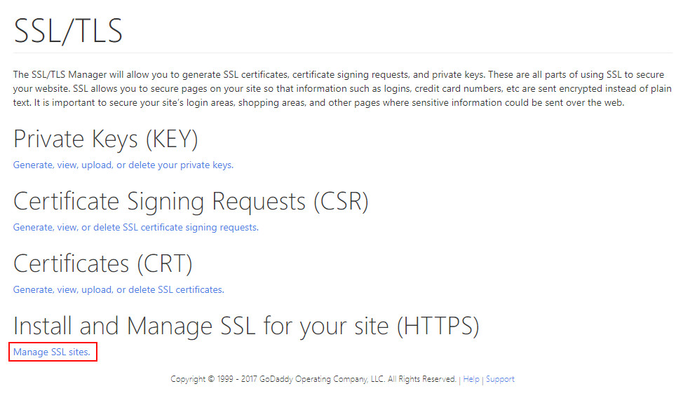 Godaddy - Install the SSL Certificate in your C-Panel | Step #2