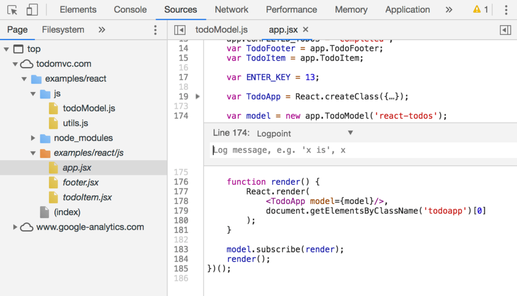 Chrome 73 DevTools Features - Logpoints - Step 2