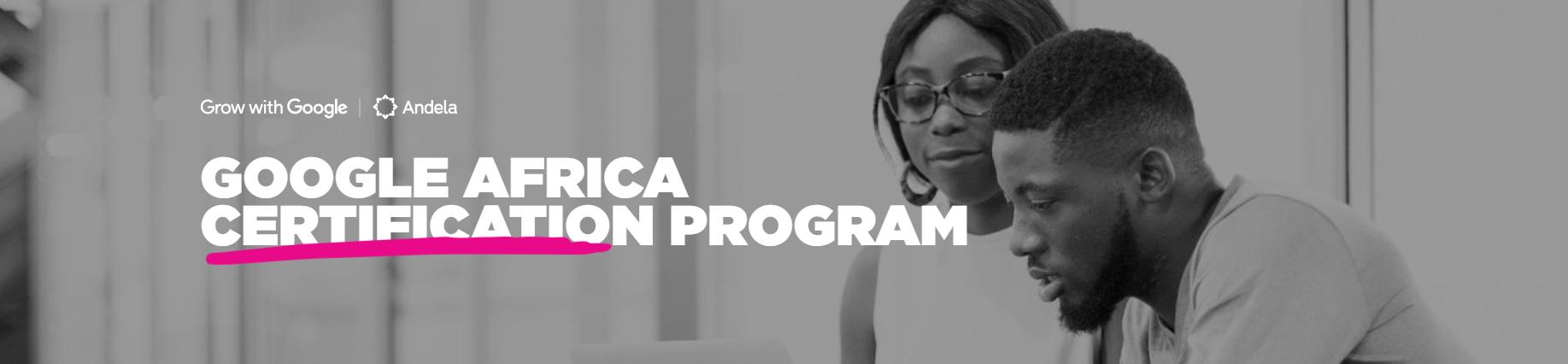 Google Africa Certification Program 2019