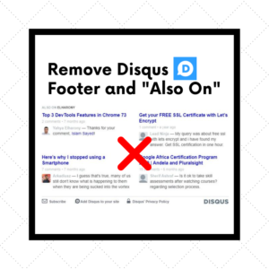 [Solved] Remove Disqus Footer and Also on sections using CSS