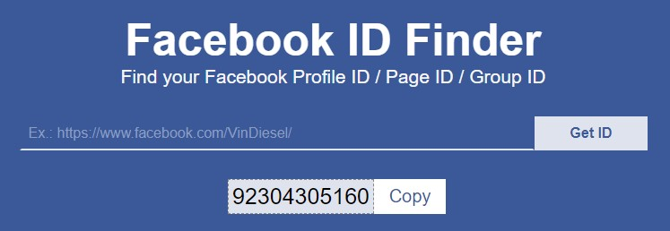 Get Facebook Page ID / Profile ID / Group ID by username